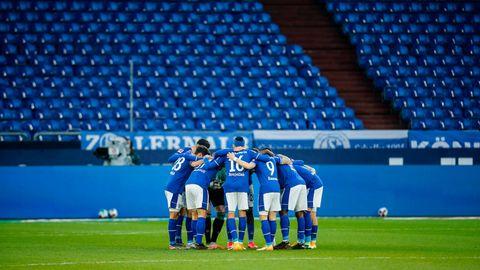 Schalke 04 vor einem Spiel