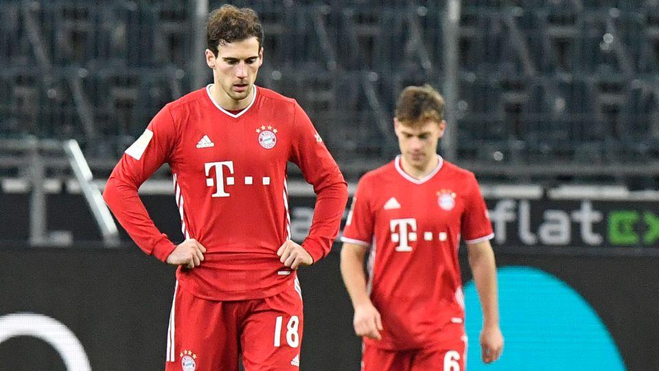 Bayerns Leon Goretzka (l.) und Joshua Kimmich