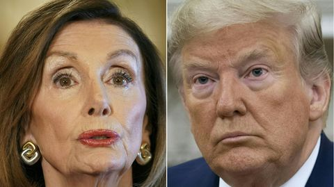 Impeachment: Donald Trump und Nancy Pelosi