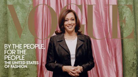 """Die gewählte US-Vizepräsidentin ziert das Cover des Fashion-Magazins """"Vogue"""""""