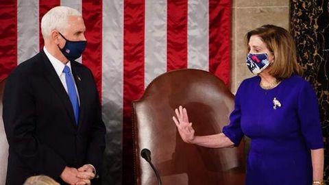 Mike Pence und Nancy Pelosi.