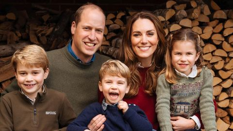 Prinz William, Herzogin Kate und die drei Kinder in Anmer Hall