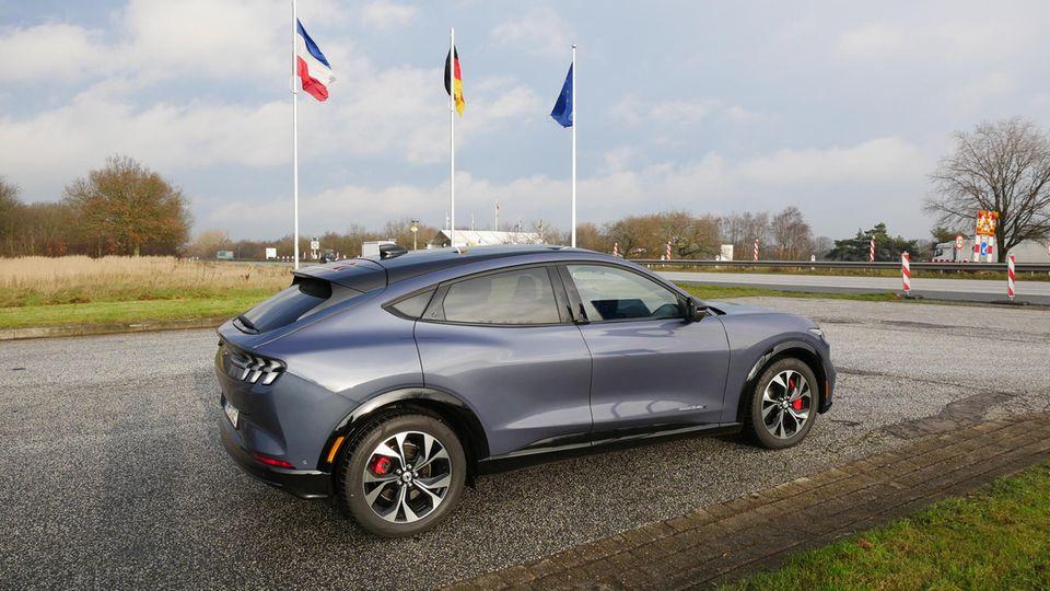 Langstreckentauglich: Mit dem Mustang ging es von Füssen bis an die dänische Grenze in Ellund