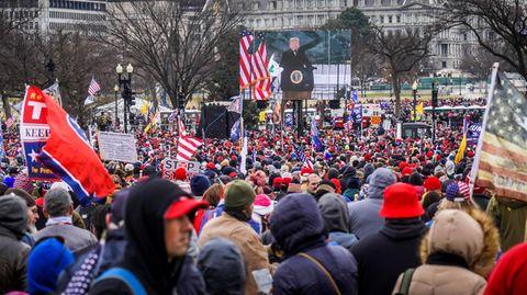 Demo von Donald Trump