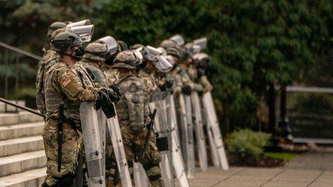 15.000 Nationalgardisten stehen für Amtseinführung von Joe Biden bereit.
