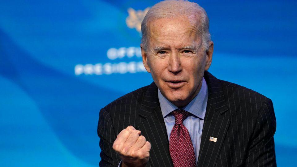 Joe Biden ballt entschlossen die Faust