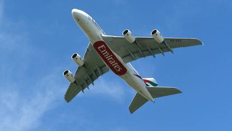 Ein Airbus A380 von Emirates Airlines