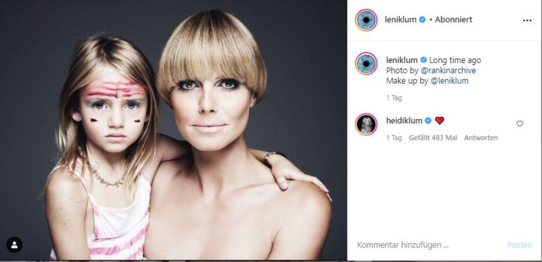 Vip-News: Leni Klum postet altes Model-Bild von sich und Mama Heidi