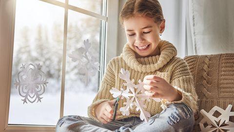 Schneeflocken sind beliebte Fensterbilder