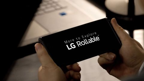 Das LG Rollable fährt sein Display ein und aus