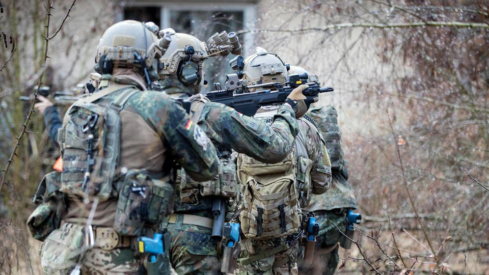 KSK-Soldaten beim Training