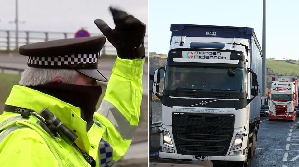 Brexit-Folgen: Britische LKW-Fahrer müssen jetzt Wurstbrote abgeben