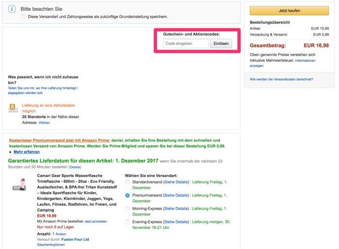 Amazon rabattcode