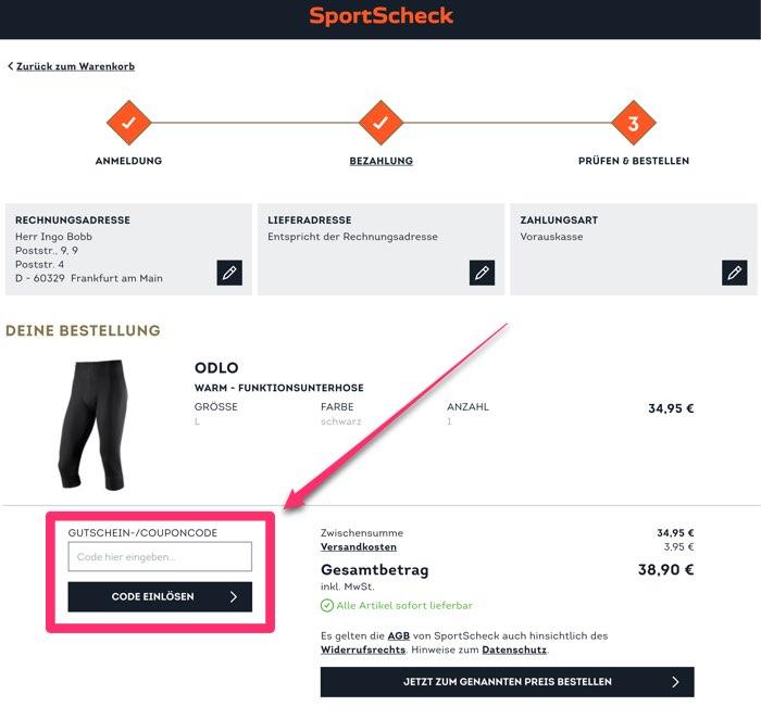 SportScheck Gutscheine Sep. 2019   35% + 20% Rabatt nutzen