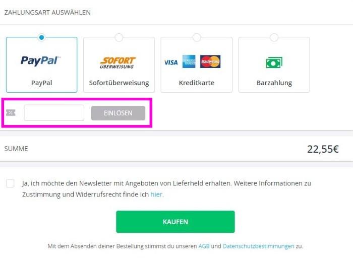 Lieferheld Gutscheine Juli 2018   Gültigen 8€ + 6€ Rabatt einlösen