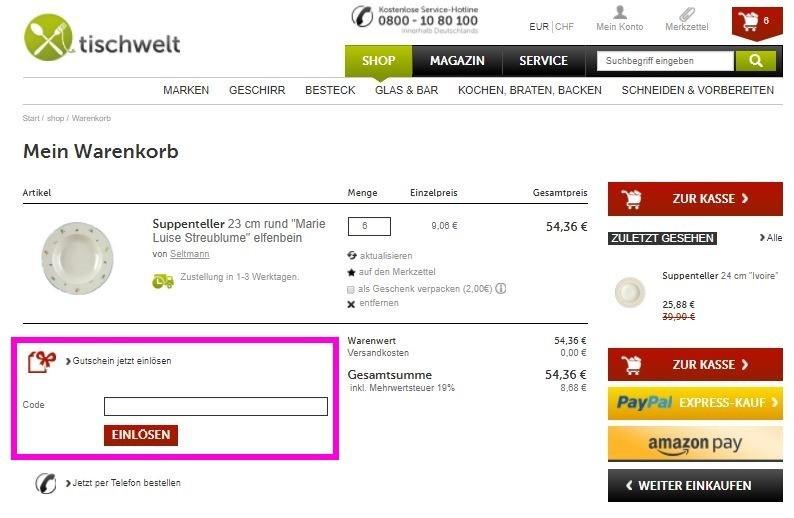 Tischwelt Gutscheine Juli 2018   Aktuellen 5€ + 70% Rabatt sichern