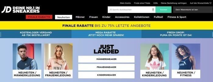 JD Sports Gutschein Dezember 2019 | 60% + 50% Rabatt sichern