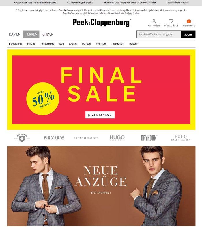Peek und Cloppenburg* Gutschein Mai 2020 | 10% + 50% Rabatt