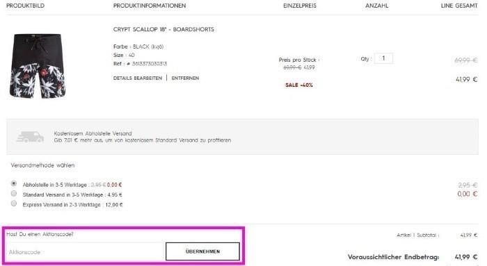 online store d3687 0757a QUIKSILVER Gutschein Oktober 2019 | 20€ + 10% Code