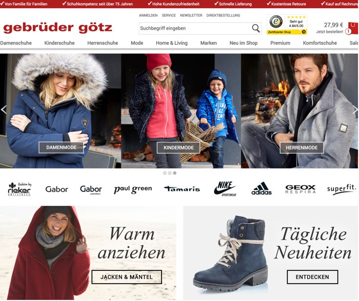 brand new 8d55f cf2d9 Gebrüder Götz Gutscheine Oktober 2019 | 15€ + 5€ Code