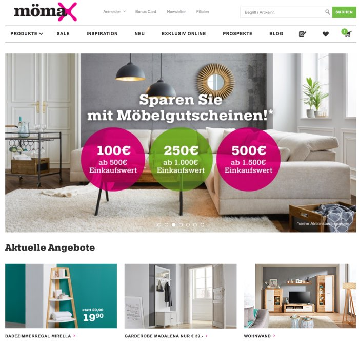 Mömax Gutscheine März 2019 11 75 Rabatt Nutzen