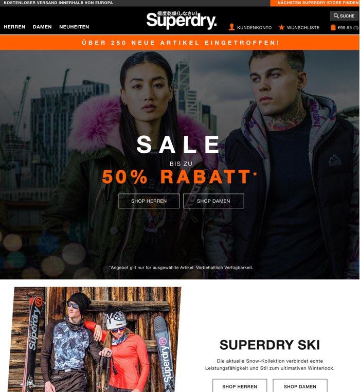 new arrival 33133 7e209 Superdry Gutschein Oktober 2019 | 50% + 30% Rabatt nutzen