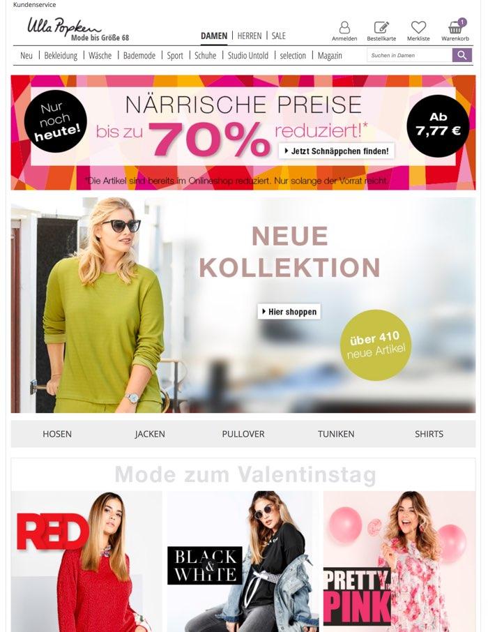 professioneller Verkauf neueste Art von Wählen Sie für authentisch Ulla Popken Gutscheine Nov. 2019 | 10€ Gutscheincode + 21 ...