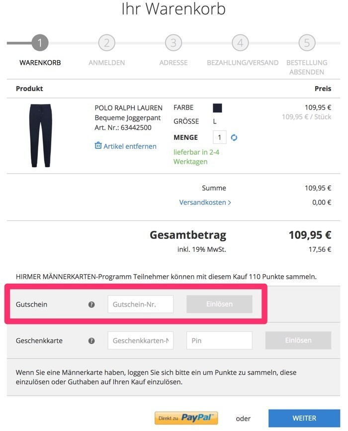 758faecf0ada Hirmer Gutschein Februar 2019   10€ + 50% Rabatt sichern