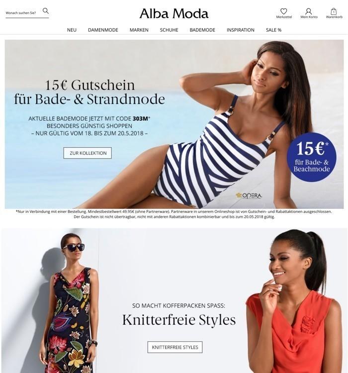 low priced e36d8 ec32c Alba Moda Gutscheine Oktober 2019 | 10€ + 70% Rabatt nutzen