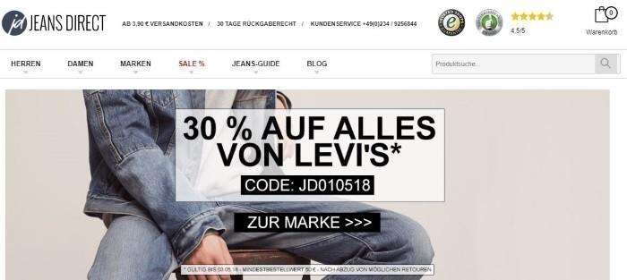 cd800bb5b060 Jeans Direct Gutscheine Februar 2019   10€ + 5€ Rabatt sichern