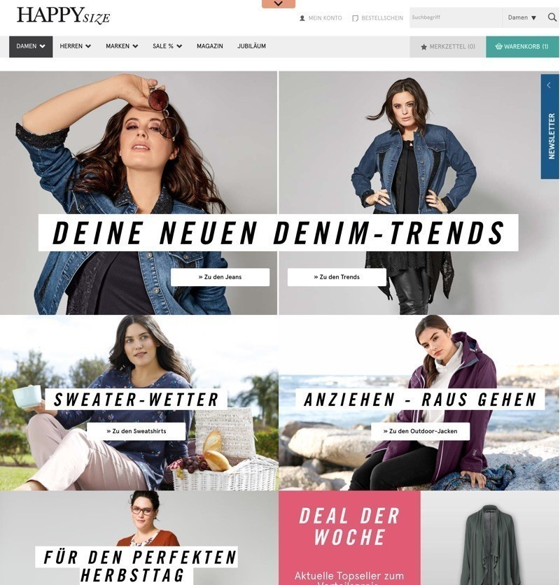 Happy Size Gutscheine » 10€ Rabatt Mai 2020 | SPARWELT