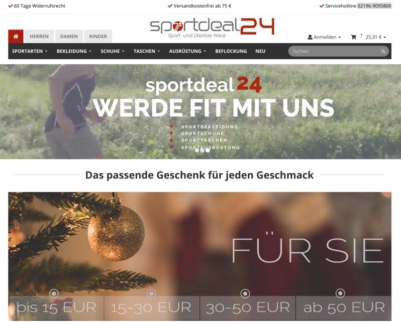 wholesale dealer 4fb61 3de86 Sportdeal24 Gutschein Oktober 2019 | 85% + 80% Rabatt nutzen